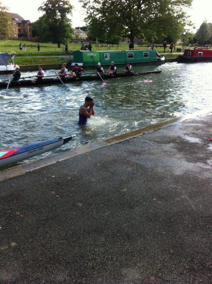 Men's captain went swimming