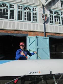 Captain washing our beautiful Pascal thanks to Zalando!