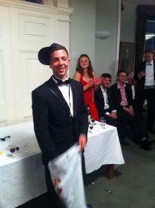 Men's captain giving his speech