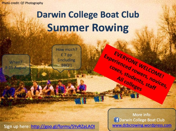 DCBC rowing poster